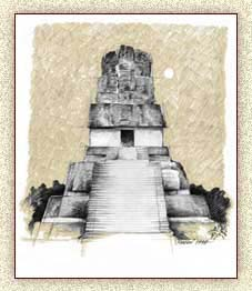 Illustration of Maya Temple by Steve Radzi