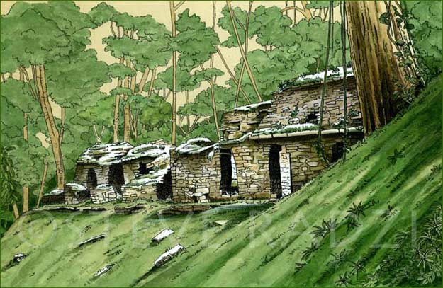 Yaxchilan Illustration by Steve Radzi